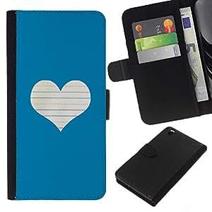 Planetar® Modelo colorido cuero carpeta tirón caso cubierta piel Holster Funda protección Para HTC DESIRE 816 ( Heart Love Notebook White )