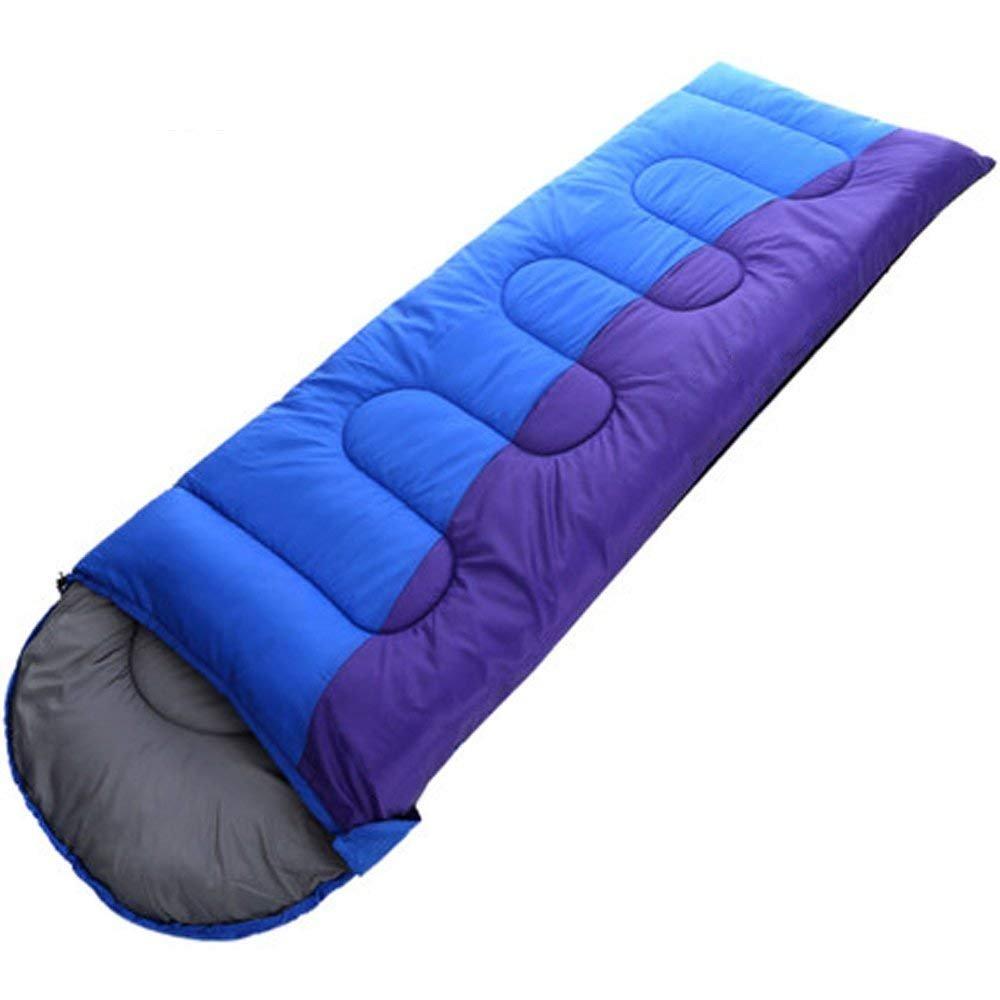 XHHWZB Saco de Dormir térmico para Todas Las Estaciones, Cómodo Saco de Dormir Ligero portátil con Saco de compresión para Acampar, IR de excursión, ...
