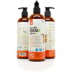 NutriLove Fish Oil for Dogs 16oz - Large & Small Dog and Cats – Omega 3 6 9 Fatty Acids Higher than Salmon Oil - Wild Supplement - Dry Skin, Healthy Coat, Heart, Immune System, Joints - Made in USA