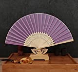 Purple 50Pcs/Lot Handmade Chinese Classic Multi Colors Party Wedding Dancing Folding Lace Hand Fan Party Favor