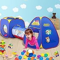 Peradix Túnel del Juego y la Tienda de Campaña del Juego de Cubby, Pop up Interior / Exterior de 3 en 1 para Bebé con Piscina de Bolaszona de Juegos ...
