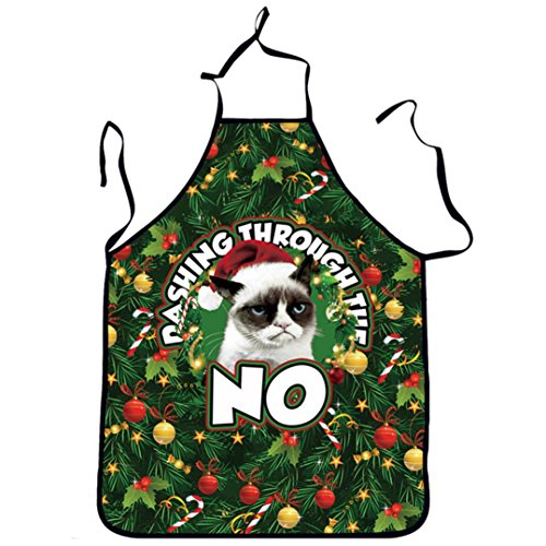 Elevin(TM)Novelty Home Cooking Baking Kitchen Apron Chef Apron Funny BBQ Christmas Xmas Gift Funny Sexy Party Apron (J)