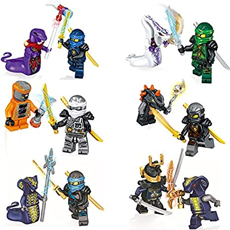 Amazon.com: Aquaman Store Ninja go - New LELE 12pcs Jay Kai ...