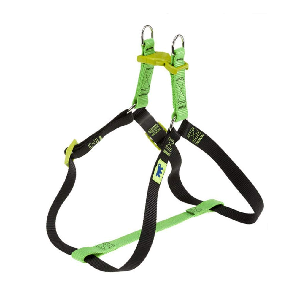 GREEN XS GREEN XS Dog Vest Harness, Outdoor Training Walking Chest Strap Leash golden Hair Teddy Small and Medium Pet Chain Safety Buffer (color   Green, Size   XS)