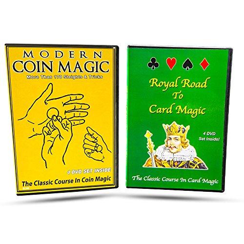 Magic Makers Modern Coin Magic & Royal Road to Card Magic Instructional Magic Training Combo