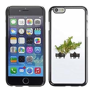 TopCaseStore / la caja del caucho duro de la cubierta de protección de la piel - Minimalist Tree Love Couple - Apple iPhone 6