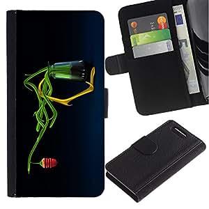 Be Good Phone Accessory // Caso del tirón Billetera de Cuero Titular de la tarjeta Carcasa Funda de Protección para Sony Xperia Z1 Compact D5503 // Abstract Honey Flower