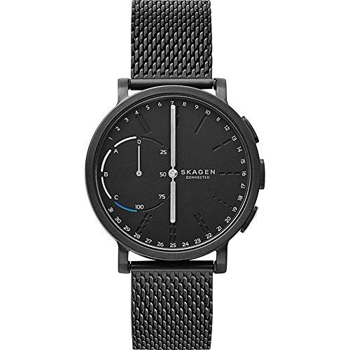 Skagen Hagen Stainless Steel Mesh Hybrid Smartwatch, Color: Black (Skagen Designs)