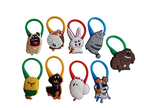 AVIRGO 9 pcs Color Bag Tag Identify Your Luggage Set # 118 - 12 (Comedy Tips)
