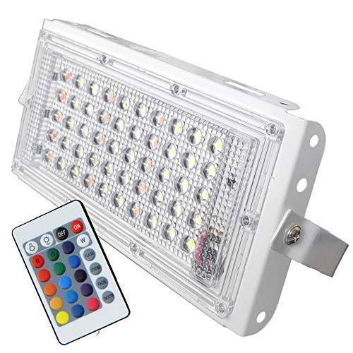 Urban King 50 Watt 220-240V Waterproof Landscape IP66 LED Flood Light RGB Multi Colour with Remote(Pack of 1)