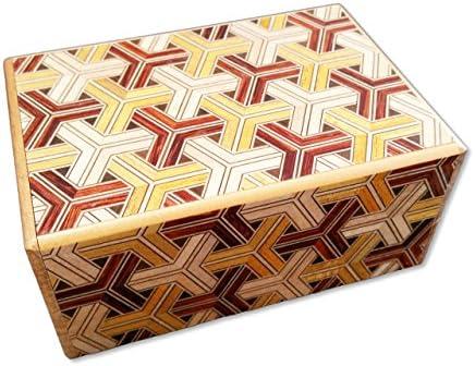 Patrón hexagonal 4 sol 12 paso japonés Puzzle caja (con Inglés ...