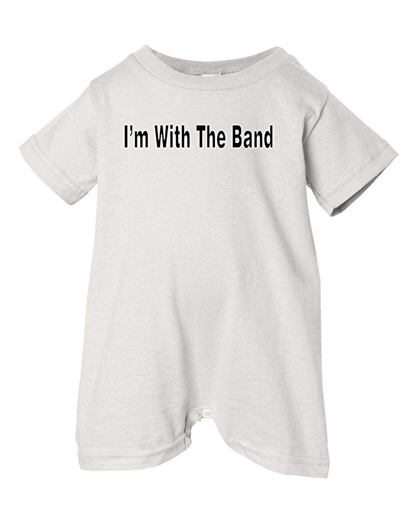 Mashed Clothing Unisex Baby Im With The Band T-Shirt Romper Black Text White, 24 Months
