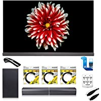 LG 65 Signature OLED TV 4K HDR Smart TV (OLED65G7P) with Sound Bar Flex Audio System, 3x 6ft HDMI Cable, Screen Cleaner for LED TVs, 6 Outlet Wall Tap w/ 2 USB Ports & 6ft Optical Audio Cable