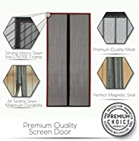 Premium Magnetic Screen Door - KEEP BUGS OUT, Let Fresh Air In