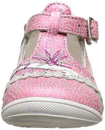 GBB Marina - Zapatos de primeros pasos Bebé-Niños Rosa - Rose (17 Vte Rose/Blanc Dpf/Kezia)
