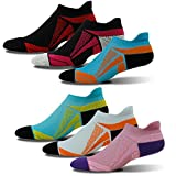 Running Socks Pack, HAPYCEO Unisex Colorful Assorted Cushioned Breathable Foot Support Anti Fatigue Athletic Sport Cycling Liner Socks - Promote Blood Circulation, 6 Pairs