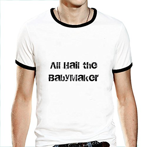 Men's Ringer T Shirt Sayings Baby Parent Ringer T Shirts For Men White XXX-Large Baby Screen Ringer Tee