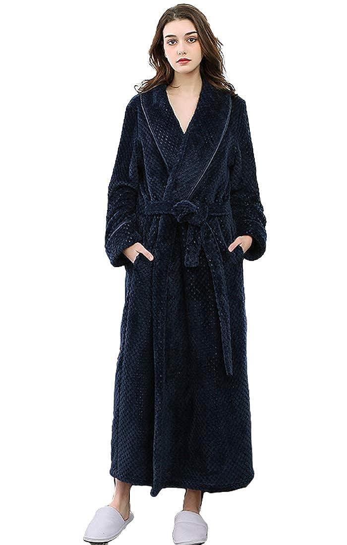 ShineGown Spitzen Bademäntel für Frauen Kurze Ärmel mit Schärpe Lange Nachtwäsche Morgenmäntel