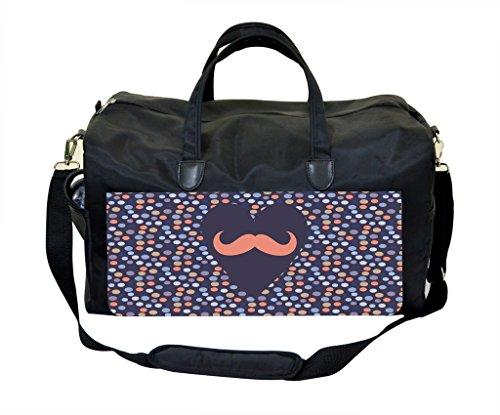 Heart Mustache Dots Pattern Diaper Bag