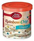 Betty Crocker Frosting, Rich & Creamy Gluten Free Frosting, Original Rainbow Chip, 16 Oz Canister