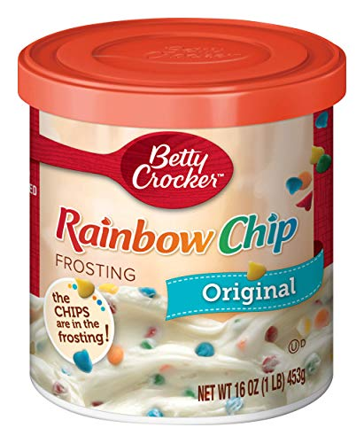 (Betty Crocker Frosting, Rich & Creamy Gluten Free Frosting, Original Rainbow Chip, 16 Oz Canister )