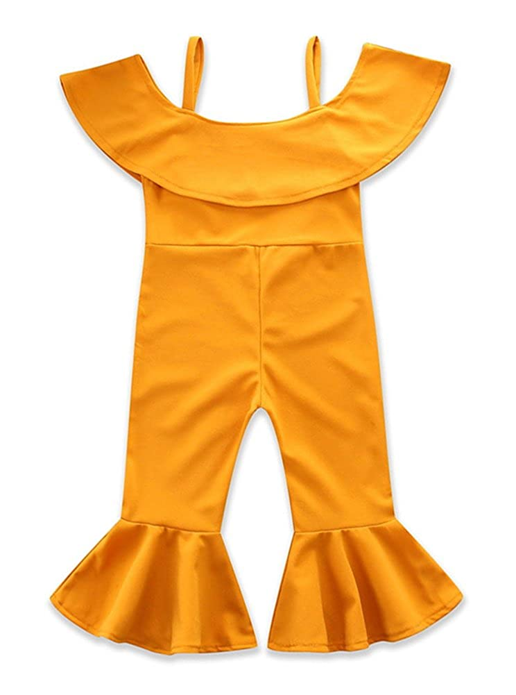 Pinleck Kids Little Girls Cami Strap Harem Jumpsuit Summer Romper Bootcut Pants Outfits