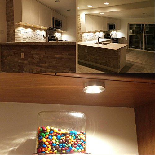 le 10 pack brightest led under cabinet lighting puck lights 12vdc 25w halogen replacement. Black Bedroom Furniture Sets. Home Design Ideas