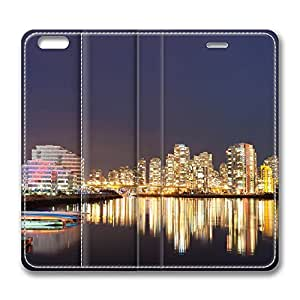 iPhone 6 Plus Case, Fashion Customized Protective PU Leather Flip Case Cover Vancouver Reflections for New Apple iPhone 6(5.5 inch) Plus