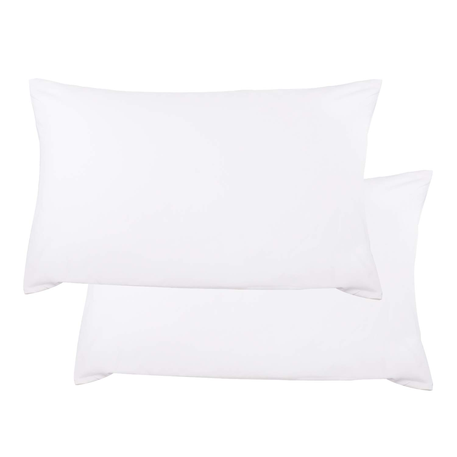 Sunnest 2 Queen Size Pillowcases Ultra Soft 100% Brushed Microfiber, 30'' x 20'', White