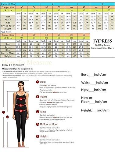 JYDress - Vestido - trapecio - para mujer Sliver and Black 46