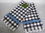 Kate Spade Set of 2 Navy & White Gingham Kitchen Towels