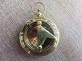 Arsh Nautical Brass Sundial Compass - Necklace