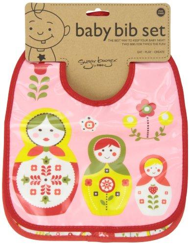 Sugarbooger Mini Bib Gift Set, Matryoshka Doll, 2 Count