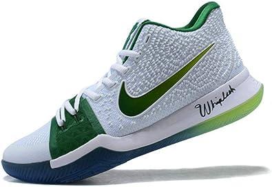 Kyrie 3 Boston Celtics PE White Green Zapatos de Baloncesto para ...