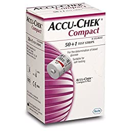 Accu-Chek Compact 51 Test Strips - For use with Compact PLUS Meters Only