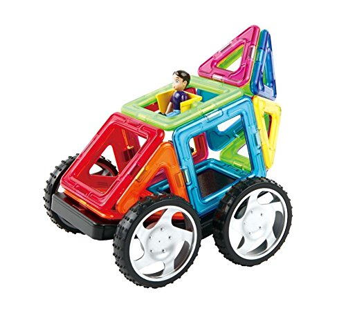 Magformers Vehicle Wow Set (16-pieces) Magnetic    Building      Blocks, Educational  Magnetic    Tiles Kit , Magnetic    Construction  STEM Toy Set includes wheels by Magformers (Image #5)