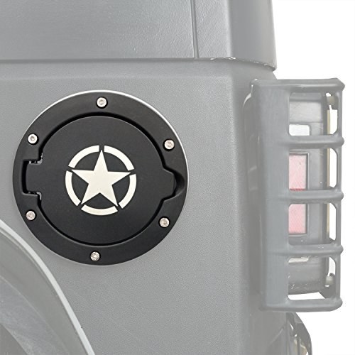 opar Five Star Gas Cap Gas Tank Cover for 2007-2018 Jeep Wrangler JK & Unlimited - Jeep Wrangler Fuel Tank