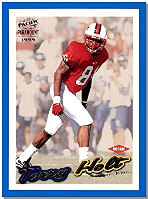 1999 Pacific football card Paramount #198 Torry Holt RC Rookie NORTH CAROLINA STATE WOLFPACK ST. LOUIS RAMS