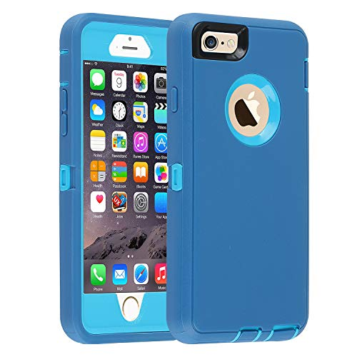Co-Goldguard iPhone 6/6s Case,[Heavy Duty] Armor 3 in 1 Built-in Screen Protector Rugged Cover Dust-Proof Shockproof Drop-Proof Scratch-Resistant Tough Shell for Apple iPhone 6/6s 4.7 inch (Blue)