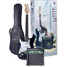 Stagg ESURF 250LHBK US Surfstar Left Handed Electric Guitar and Amplifier Package, Black