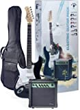 Stagg ESURF 250LHBK US Surfstar Left Handed Electric Guitar and Amplifier Package - Black