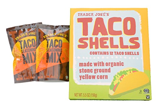 Trader Joes Gluten Free Taco Shells with two Taco Mix Seasoning (Organic Taco Shells)