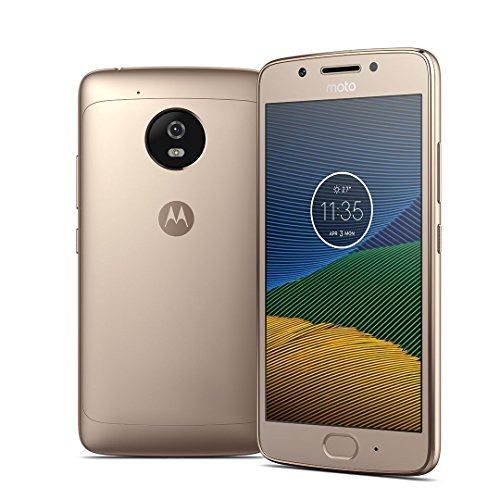 Dual Sim Gsm - Motorola Moto G5 XT1676 Gold, Dual Sim, 5 inch, 16GB, GSM Unlocked International Version, No Warranty