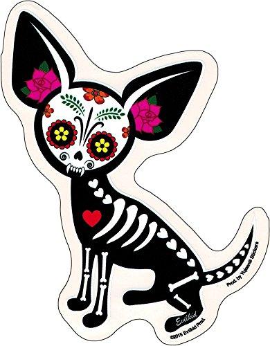 Chihuahua Muerta Sugar Skull Dog Sticker / Decal ()