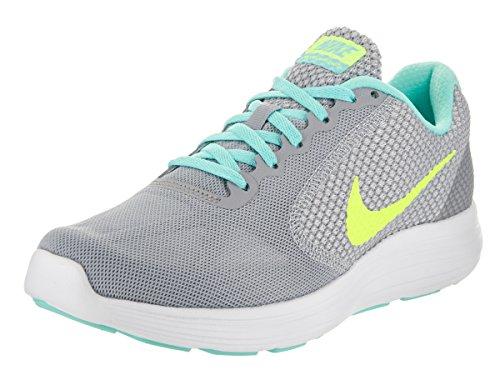 Nike Women's Revolution 3 Running Shoe, Wolf Grey/Volt/Hyper Turquoise/White, 8.5 M US (Shoes For Women Online)