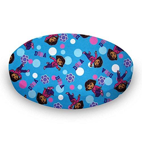 SheetWorld Round Crib Sheets - Dora Blue - Made In USA