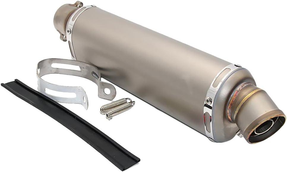 D DOLITY 51mm Scarico Silenziatore Di Scarico Tubo Marmitta Exhaust Per Motociclo 125cc-600cc Titanio