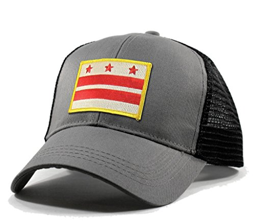 Homeland Tees Men's Washington DC Flag Patch Trucker Hat - - Mall Vernon Mount