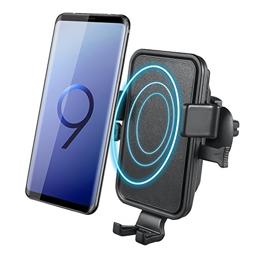 Wireless Car Charger  Novete Air Vent Phone Holder Gravity Car Mount Charger For Iphone X 8 8 Plus  Fast Charging For Samsung Galaxy S9 S9 Plus  S8 S8 Plus  S7  Note 8  Black