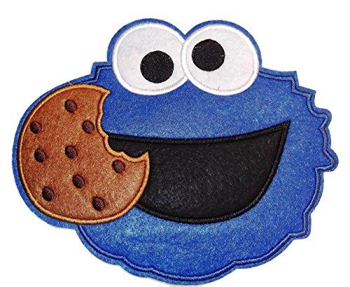 Sesame Street COOKIE MONSTER Face Large 6 1/2